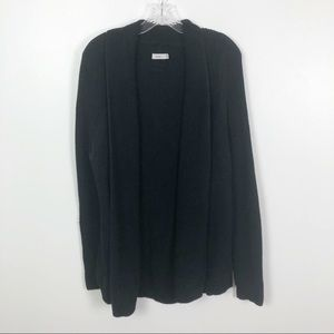 Vince Open Cable-knit Cardigan Black Size Large